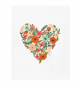 [Rifle Paper Co.] Floral Heart 8 x 10