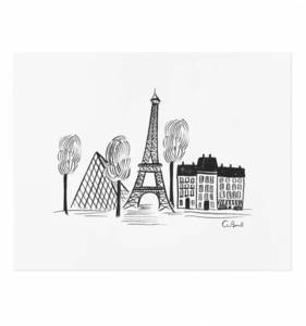 [Rifle Paper Co.] Paris Sketch 8 x 10""