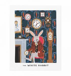 [Rifle Paper Co.] White Rabbit 8 x 10""