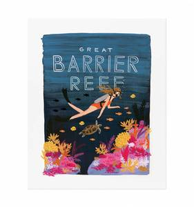 [Rifle Paper Co.] Barrier Reef 11 x 14""