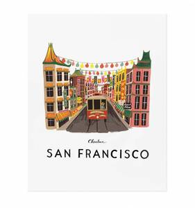 [Rifle Paper Co.] San Francisco 11 x 14""