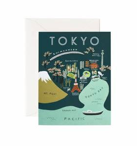 [Rifle Paper Co.] Tokyo Map Card