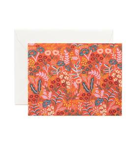 [Rifle Paper Co.] Tapestry Red Card