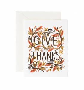 [Rifle Paper Co.] Thankful Forest Card