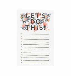 [Rifle Paper Co.] Let's Do This Notepad