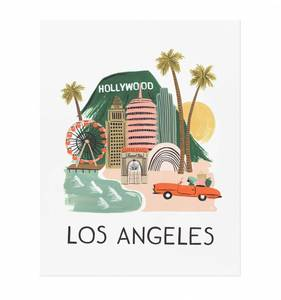 [Rifle Paper Co.] Los Angeles 11 x 14""