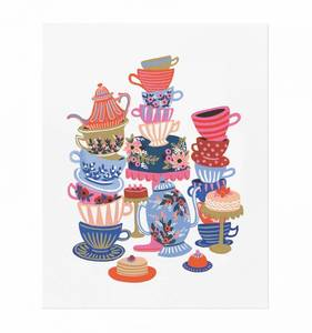 [Rifle Paper Co.] Teacups 8 x 10""