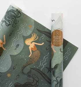 [Rifle Paper Co.] Mermaid Wrapping Sheets [3 sheets]