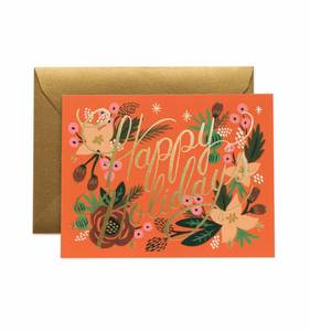 [Rifle Paper Co.] Poinsettia Holiday Card