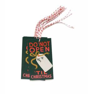 [Rifle Paper Co.] Do Not Open'Til Christmas Gift Tag