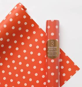 [Rifle Paper Co.] Holiday Dot Wrapping Sheets [3 sheets]