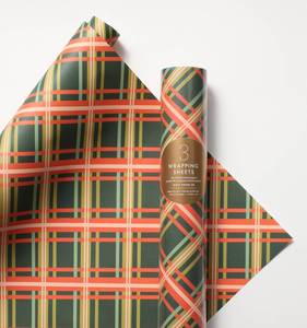 [Rifle Paper Co.] Holiday Plaid Wrapping Sheets [3 sheets]
