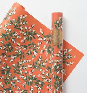 [Rifle Paper Co.] Mistletoe Wrapping Sheets [3 sheets]