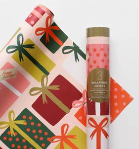 [Rifle Paper Co.] Presents Wrapping Sheets [3 sheets]