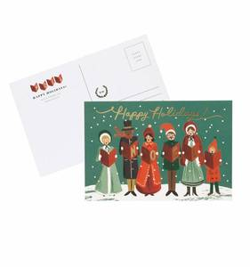 [Rifle Paper Co.] Carolers Christmas Postcards [10 postcards]