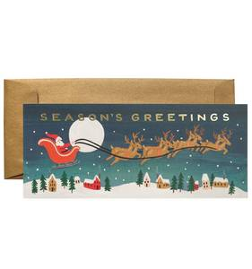 [Rifle Paper Co.] Santa's Sleigh No.10 Card