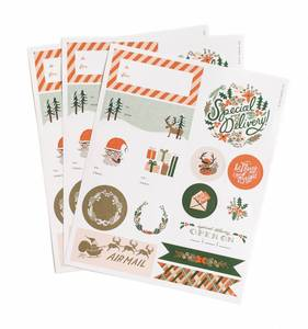 [Rifle Paper Co.] Holiday Stickers and Labels [3 Sheets]