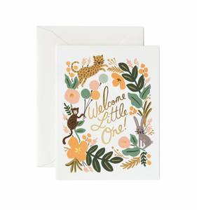 [Rifle Paper Co.] Menagerie Baby Card