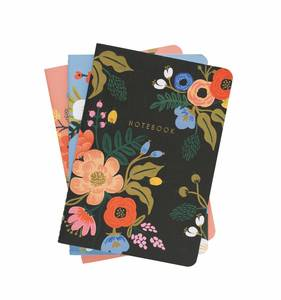 [Rifle Paper Co.] Lively Floral Stitched Notebook Set