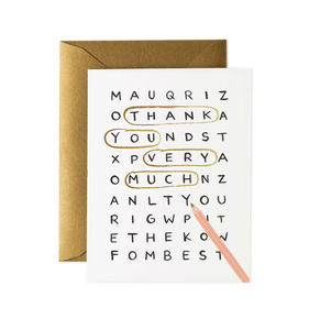 [Rifle Paper Co.] Word Search Thank You Card