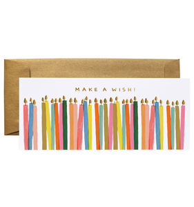 [Rifle Paper Co.] Make a Wish Candles No.10 Card