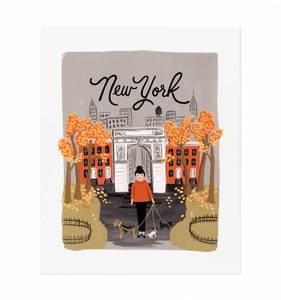 [Rifle Paper Co.] New York Autumn 11 x 14""