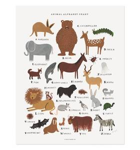 [Rifle Paper Co.] Animal Alphabet Chart 11 x 14""