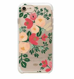 [Rifle Paper Co.] Clear Peach Blossom iPhone Case For 6/6s/7/8, 6+/7+/8+