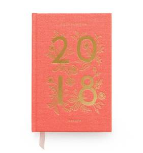 [Rifle Paper Co.] 2018 Hardcover Coral Agenda
