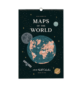 [Rifle Paper Co.] 2018 Maps Of The World Calendar