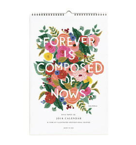 [Rifle Paper Co.] 2018 Inspirational Quote Calendar