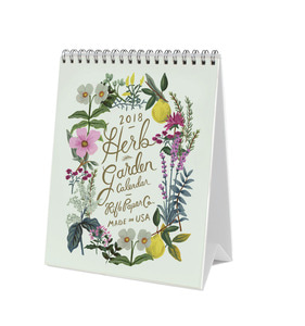 [Rifle Paper Co.] 2018 Herb Garden Desk Calendar