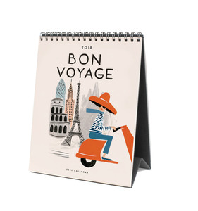 [Rifle Paper Co.] 2018 Bon Voyage Desk Calendar