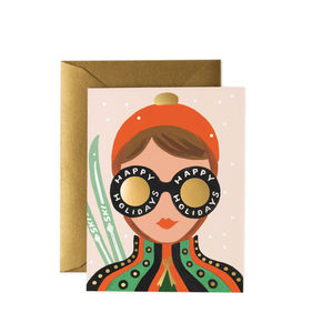 [Rifle Paper Co.] Ski Girl Card