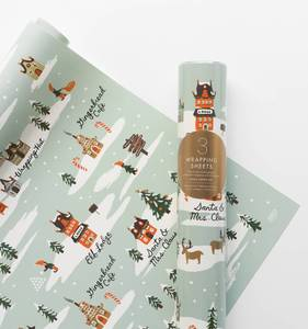 [Rifle Paper Co.] North Pole Wrapping Sheets [3 sheets]