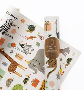 [Rifle Paper Co.] Party Animals Wrapping Sheets [3 sheets]
