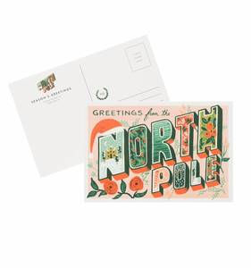 [Rifle Paper Co.] Greetings From the North Pole Postcards [10 postcards]