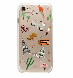 [Rifle Paper Co.] Clear Wanderlust iPhone Case (iPhone 6/6s/7/8, 6+/7+/8+, X/XS)