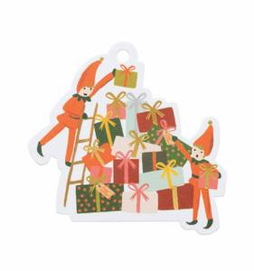 [Rifle Paper Co.] Elves Die-Cut Gift Tag