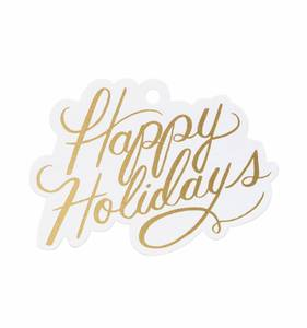 [Rifle Paper Co.] Happy Holidays Die-Cut Gift Tag