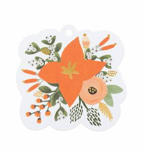 [Rifle Paper Co.] Poinsettia Die-Cut Gift Tag