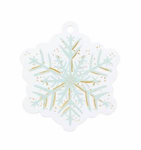 [Rifle Paper Co.] Snowflake Die-Cut Gift Tag