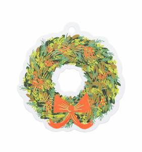 [Rifle Paper Co.] Wreath Die-Cut Gift Tag
