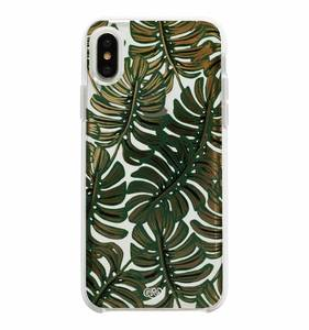 [Rifle Paper Co.] Clear Monstera iPhone Case For X