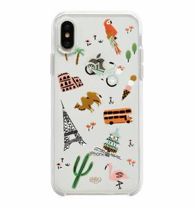 [Rifle Paper Co.] Clear Wanderlust iPhone Case For X