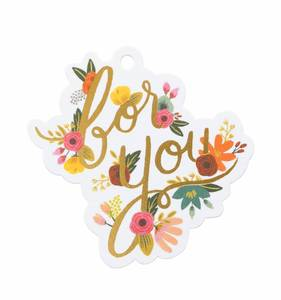[Rifle Paper Co.] Mint floral 'for you' Die-Cut Gift Tag
