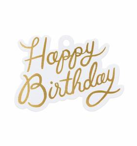 [Rifle Paper Co.] Happy birthday Die-Cut Gift Tag