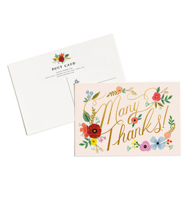 [Rifle Paper Co.] Bouquet Thanks Postcard