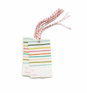 [Rifle Paper Co.] Happy Stripe Gift Tags