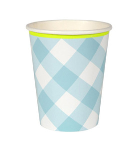 [Meri Meri] Blue Gingham Cups